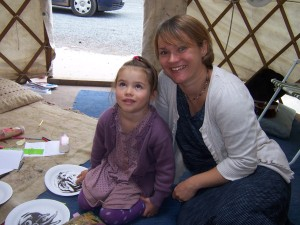 Ruby with Mum Tracy enjoying fun time with words.