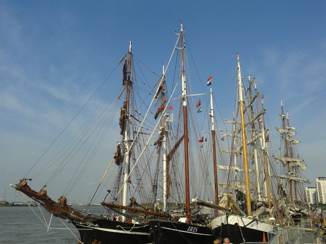 Moored up at Woolwich Sept 2014 Greenwich Tall Ships Regatta 20140909_163540